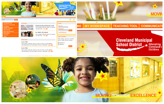 Cleveland Elementary School: Art Direction, Web Design