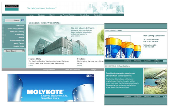 Dow Corning: Art Direction, Web Design